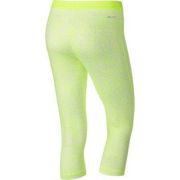 spodnie tenisowe damskie 3/4 NIKE SLAM PRINTED CAPRI / 646194-702