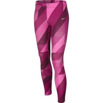spodnie tenisowe dziewczęce NIKE LEG-A-SEE ALL OVER PRINTED COTTON TIGHT / 679091-617