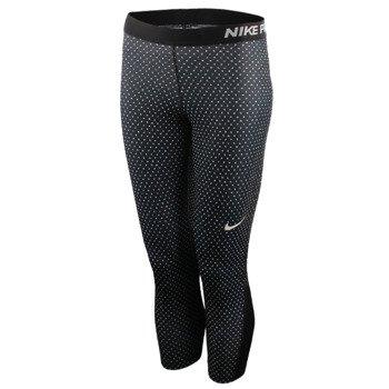 spodnie termoaktywne damskie 3/4 NIKE PRO COOL MINI SWARM CAPRI / 803162-010