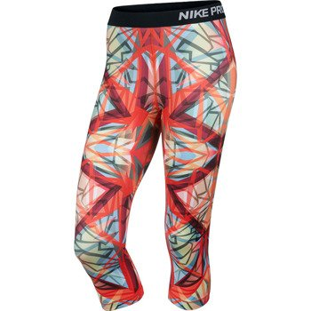 spodnie termoaktywne damskie 3/4 NIKE PRO KALEIDOSCOPE CAPRI