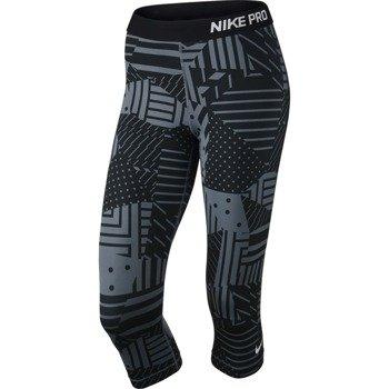 spodnie termoaktywne damskie 3/4 NIKE PRO PATCH WORK CAPRI / 689832-494